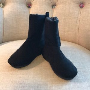 Suede-like material Girls Black boot